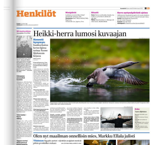 Aamulehti 19.2.2012